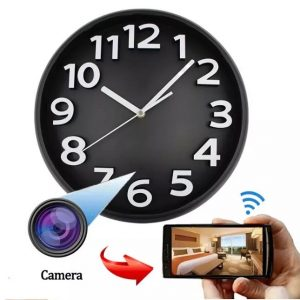 wifi wall clock spy camera