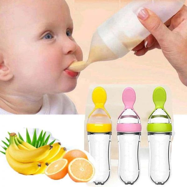 90ML rice cereal bottle squeeze feeder