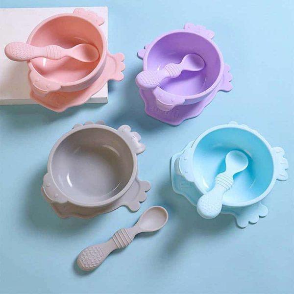 Baby feeding bowl spoon set
