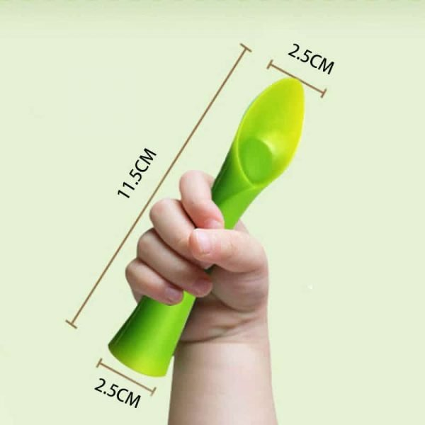 Multifunctional baby green sprout feeding spoon size