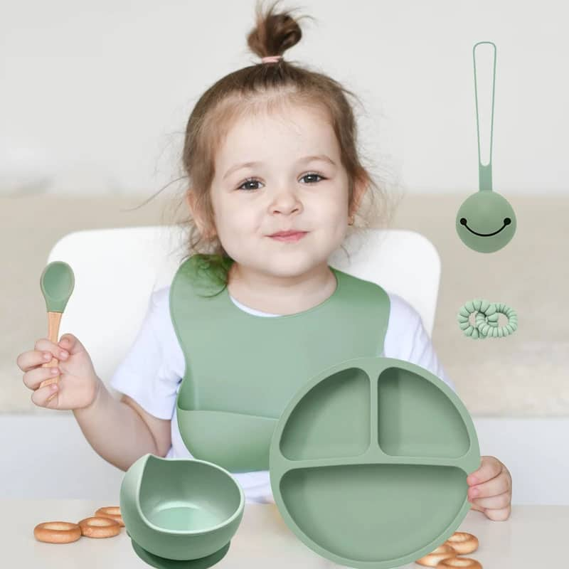silicone baby feeding set
